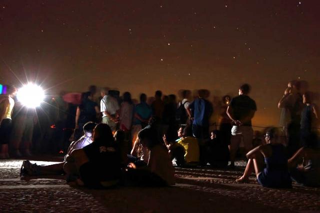 Observación Astronómica en la Fortaleza de la Mota - AstroAlcalá 2010