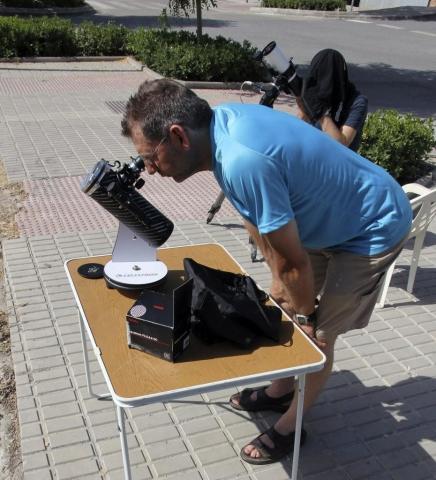 Observación solar - AstroAlcalá 2011