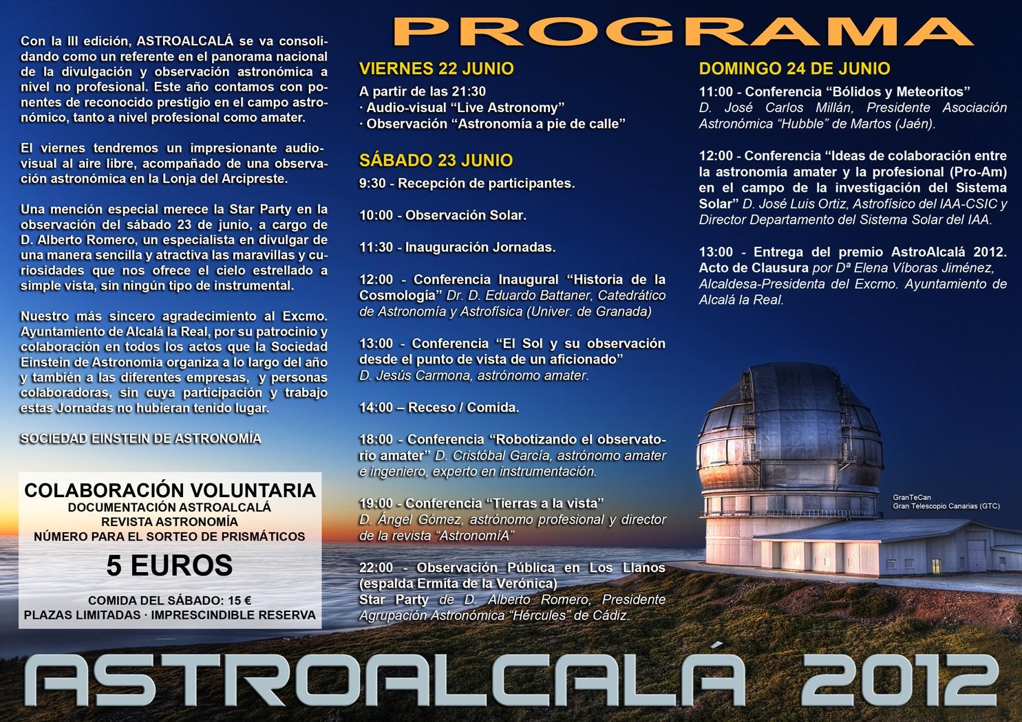 Programa AstroAlcalá 2012