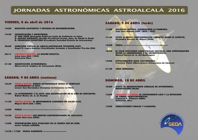 Programa AstroAlcalá 2016
