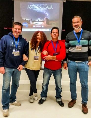 Miquel Duart, Maritxu Poyal, Paco Yepes y JASP - AstroAlcalá 2017