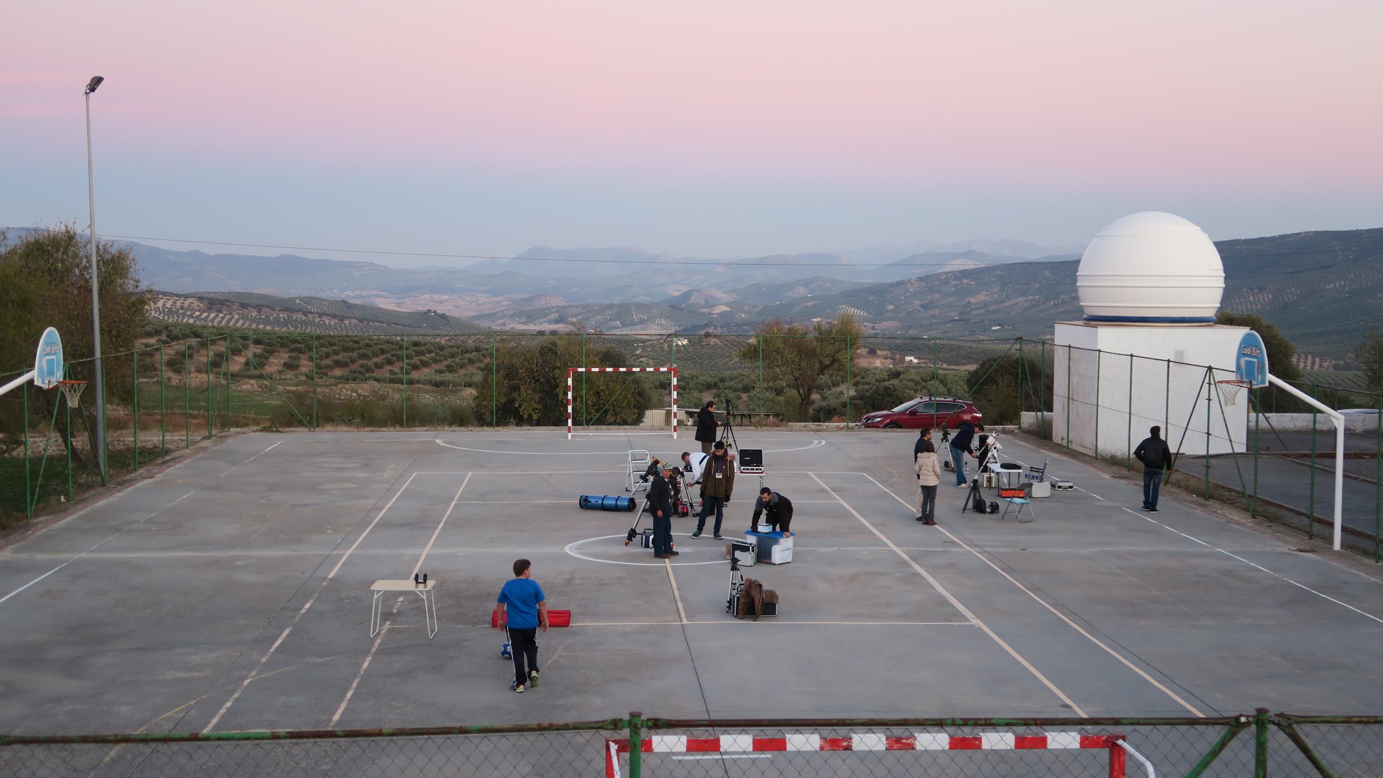 Preparando la observación - AstroAlcalá 2017